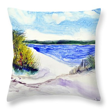 Hole In The Cove Throw Pillow