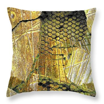Throw Pillow featuring the mixed media Hole In The Wall by Tony Rubino