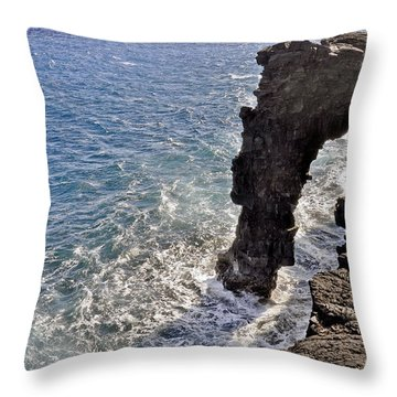 Throw Pillow featuring the photograph Holei Sea Arch by Gina Savage