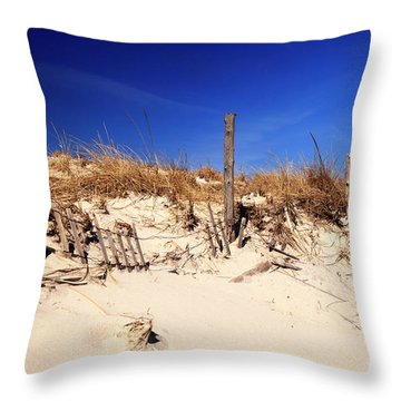 Holgate Beach Dune On Long Beach Island Throw Pillow by John Rizzuto