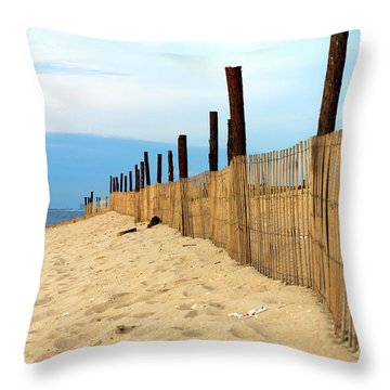 Holgate Fence Lines Throw Pillow