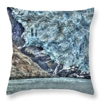 Holgate Glacier Hdr Throw Pillow