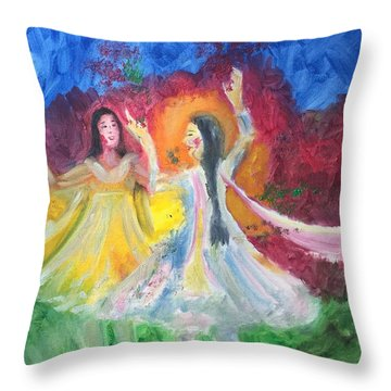 Holi-festival Of Colors Throw Pillow