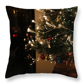 Holiday Attire Throw Pillow by Yvonne Wright