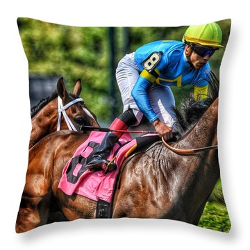 Holiday Bonus W Irad Ortiz,jr Throw Pillow