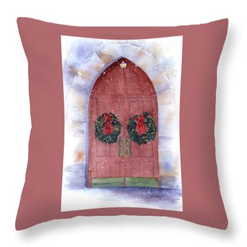 Holiday Chapel Throw Pillow