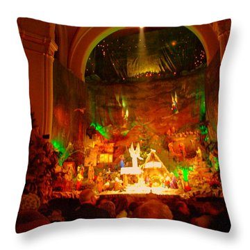 Holiday Decor In The Basilica Throw Pillow