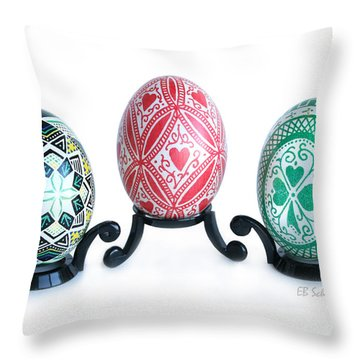 Holiday Eggs Throw Pillow