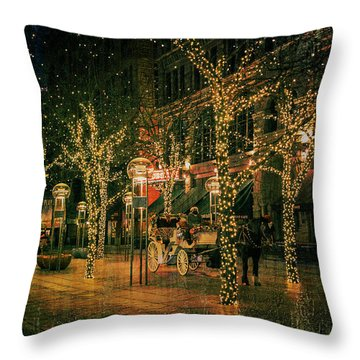 Holiday Handsome Cab Throw Pillow by Kristal Kraft
