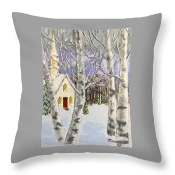 Holiday In The Country Throw Pillow