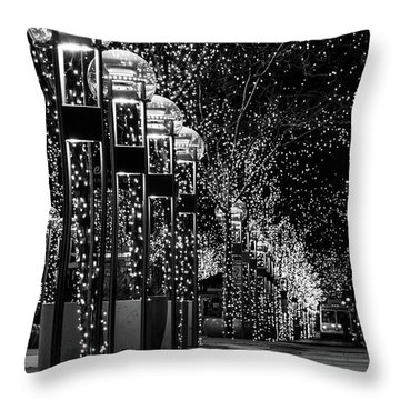Holiday Lights - 16th Street Mall Throw Pillow