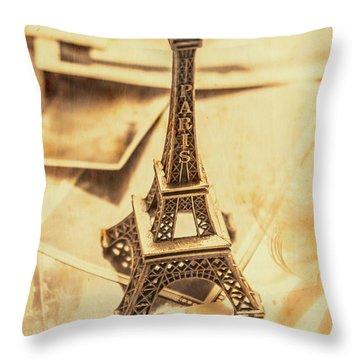 Holiday Nostalgia In Vintage France Throw Pillow