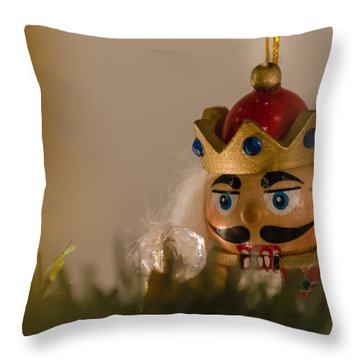 Holiday Nutcracker Throw Pillow