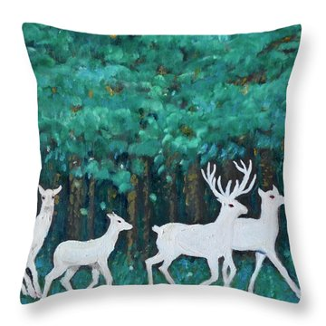 Holiday Season Dance Throw Pillow