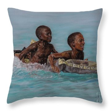 Holiday Splash Throw Pillow