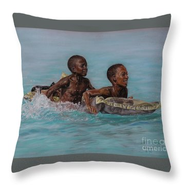 Holiday Splash Throw Pillow