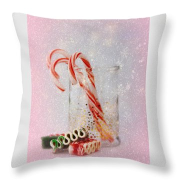 Throw Pillow featuring the photograph Holiday Sweets by Diane Alexander