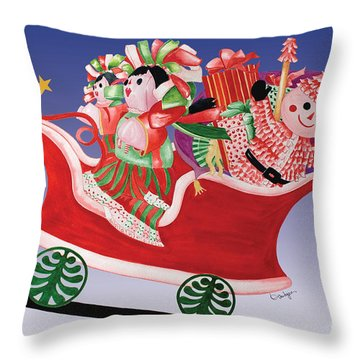 Holiday Twin Delivery Throw Pillow