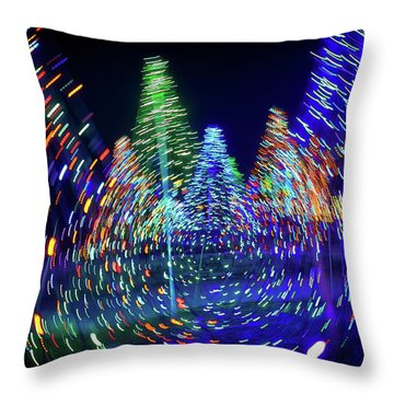 Holidays Aglow Throw Pillow by Rick Berk