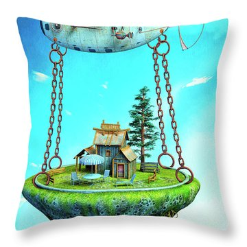 Holidays Throw Pillow by Jutta Maria Pusl