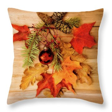 Throw Pillow featuring the photograph Holidays by Rebecca Cozart