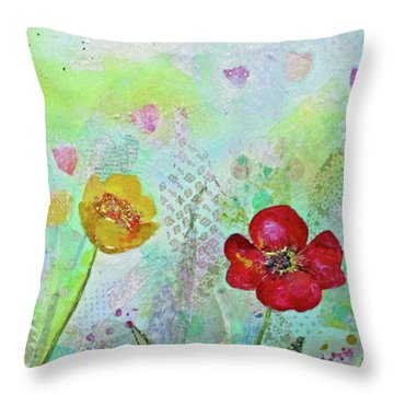 Holland Tulip Festival II Throw Pillow