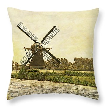 Holland - Windmill Throw Pillow