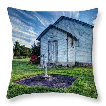 Holleford Schoolhouse Throw Pillow