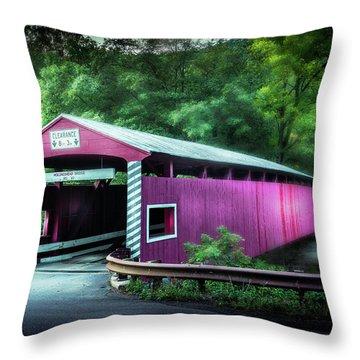Hollingshead Coverd Bridge Throw Pillow