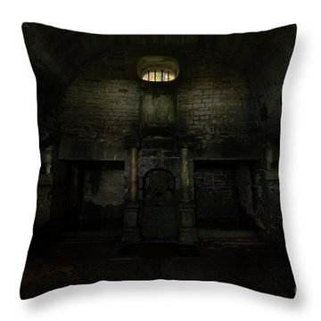 Hollinshead Hall Well House Throw Pillow by Steev Stamford