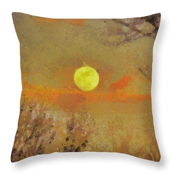 Throw Pillow featuring the mixed media Hollow's Eve by Trish Tritz