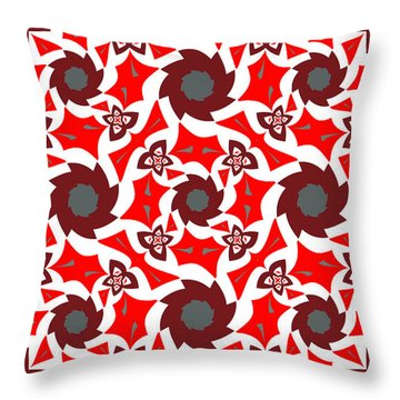 Holly Abstract Throw Pillow