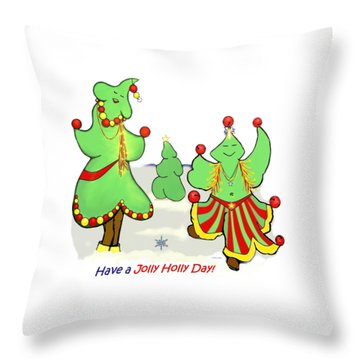 Holly Day Shirt For Children Throw Pillow