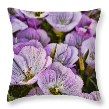 Holly Hocks - 1 Throw Pillow by Greg Jackson