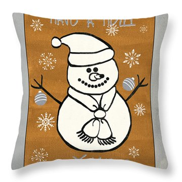 Holly Holly Xmas Throw Pillow