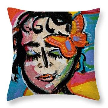 Holly - Vivid Vixen Throw Pillow