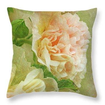 Hollyhock Throw Pillow