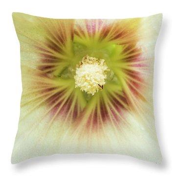 Hollyhock Center Throw Pillow