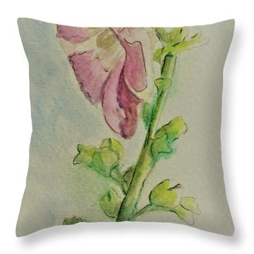Hollyhock The Harbinger Of Summer Throw Pillow