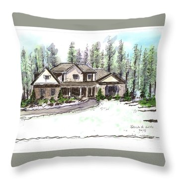 Holly's Place Throw Pillow