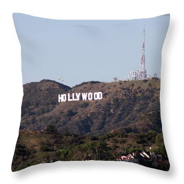 Hollywood And Helicopters Throw Pillow