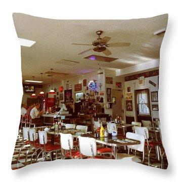 Hollywood Cafe Lodi California Throw Pillow