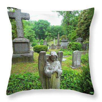 Hollywood Cemetery Throw Pillow
