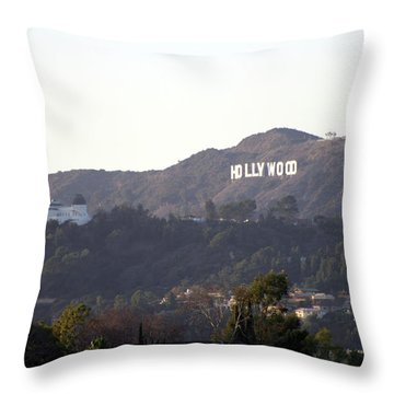 Hollywood Hills And Griffith Observatory Throw Pillow