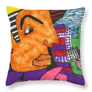 Hollywood Hitman Throw Pillow