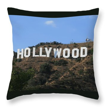 Hollywood Throw Pillow by Marna Edwards Flavell