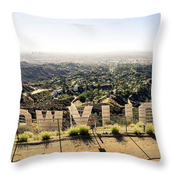 Hollywood Throw Pillow by Michael Weber