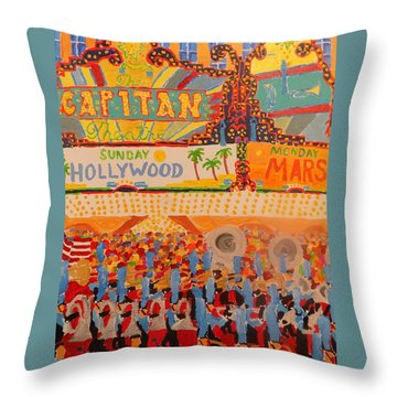 Hollywood Parade Throw Pillow