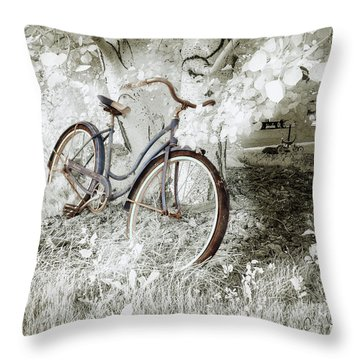 Throw Pillow featuring the photograph Hollywood Schwinn II by Craig J Satterlee