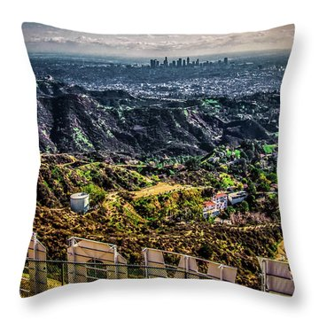 Behind The Sign Throw Pillow